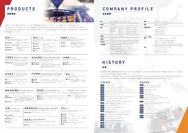 制作実績 板通様 会社パンフレット デザイン3